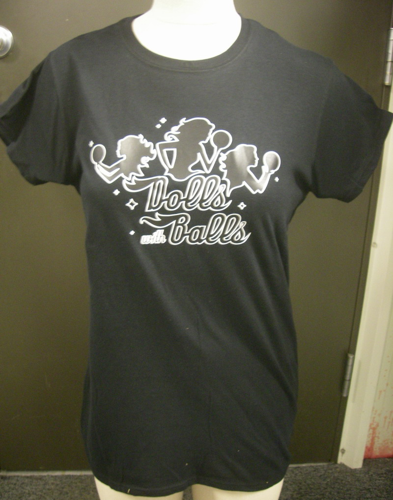 DOLLS W/ BALLS-on GILDAN SLIM FIT T-SHIRT-XL