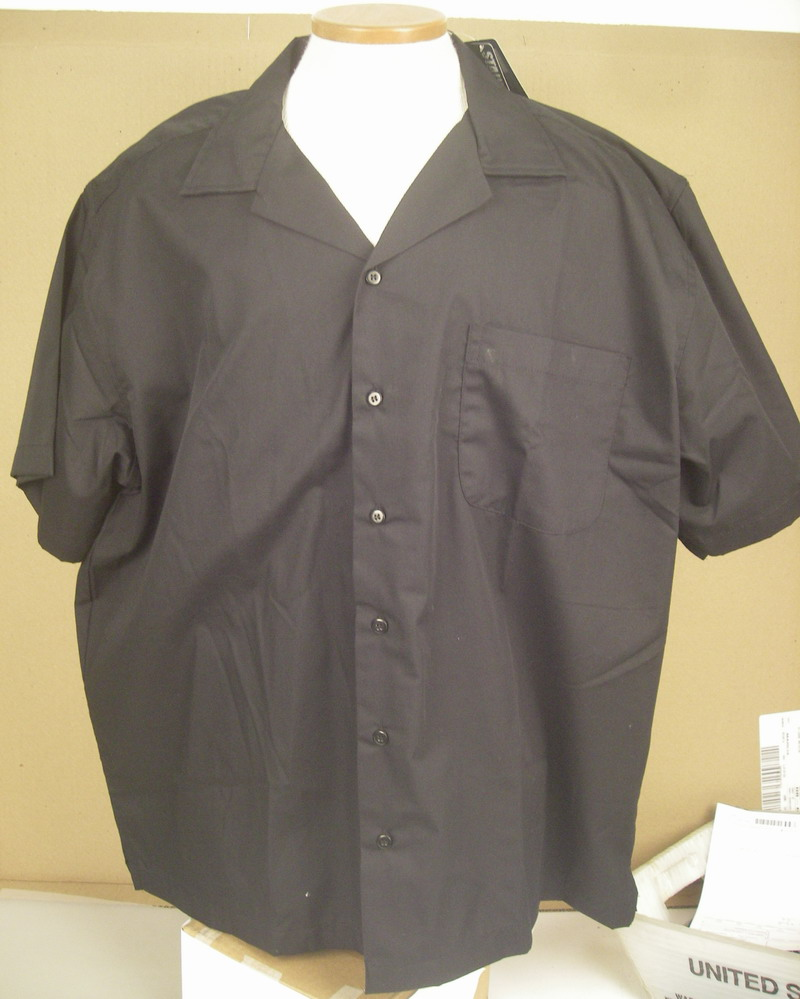 BLUE GENERATION BLACK BOWLING SHIRT BLANK-XL