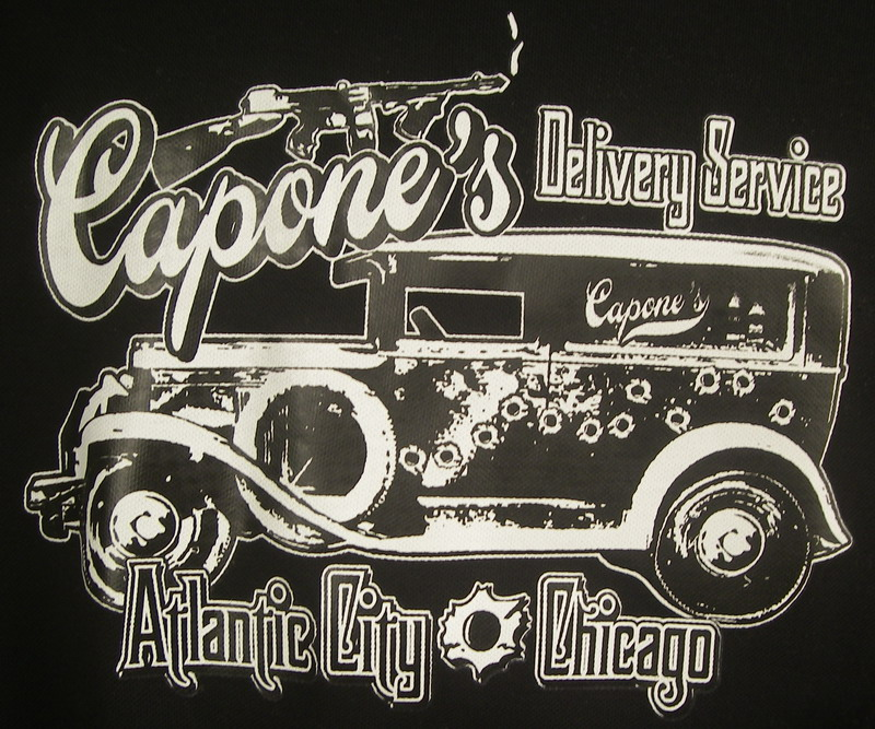CAPONE'S DELIVERY SERVICE on RED/BLACK DEUCE-2XL