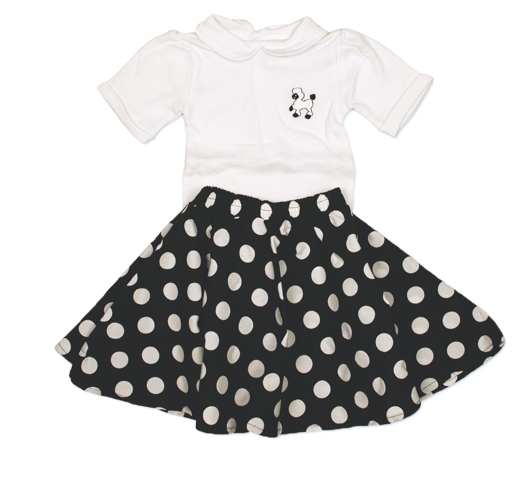 Infant Circle Skirt with Poodle Onesie