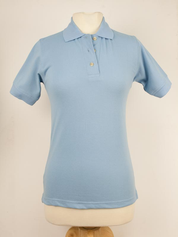 Blue Generation Light Blue Ladies Polo  Small 97a09215b77
