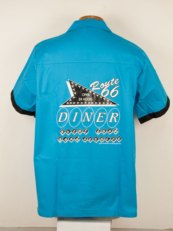 Route 66 Diner on a Turquoise Hilton Kingpin
