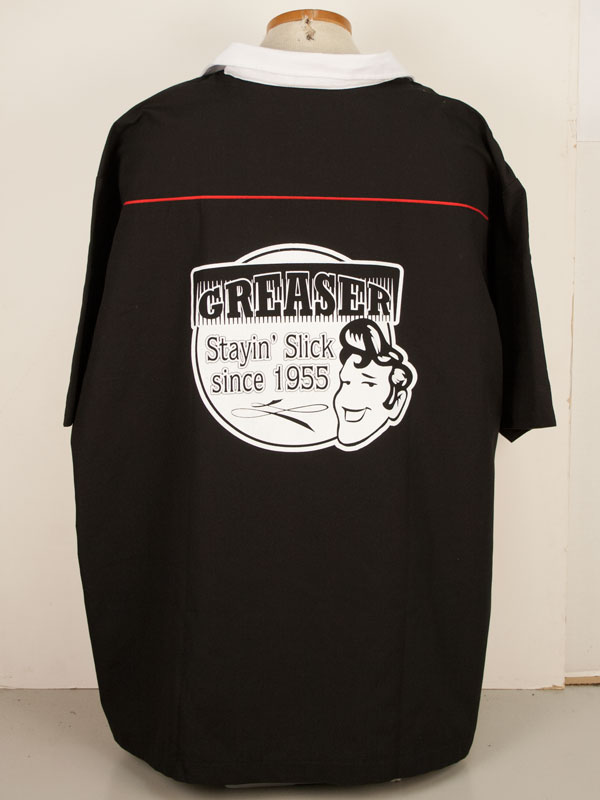Greaser print on s Blk/Wht/Red Swing Master  Size: XXX Large