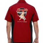 Airman's Stock Print on Muckler Bowling Shirt
