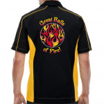 Great Balls of Fire Stock Print on Muckler Bowling Shirt