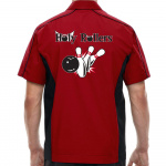Holy Rollers Stock Print on Muckler Bowling Shirt
