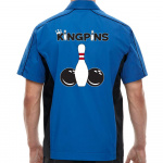 Kingpins Stock Print on Muckler Bowling Shirt