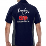 Lucky's Speed Shop Stock Print on Muckler Bowling Shirt