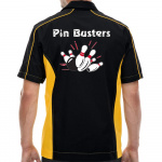 Pin Busters Stock Print on Muckler Bowling Shirt