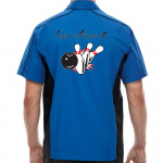 Sexy Strikers Stock Print on Muckler Bowling Shirt