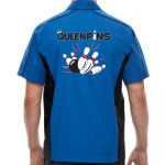 Queenpins Stock Print on Muckler Bowling Shirt