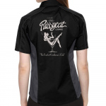 Pussycat Lounge Stock Print on Lady Muckler Bowling Shirt