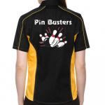 Pin Busters Stock Print on Lady Muckler Bowling Shirt