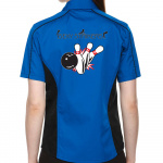 Sexy Strikers Stock Print on Lady Muckler Bowling Shirt