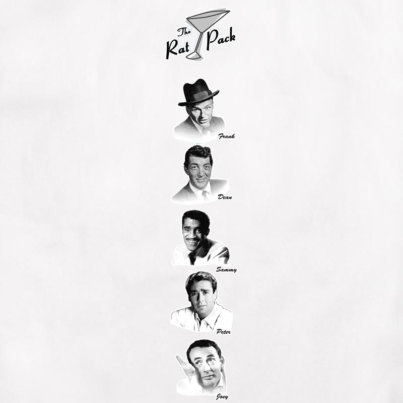 The Rat Pack: Bowling Shirt - White/Black - MD