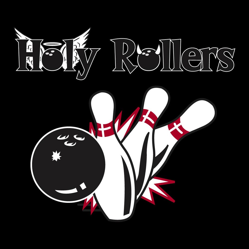 BowlingShirt.com - Holy Rollers Graphic Heavy Cotton T-Shirt - photo#50
