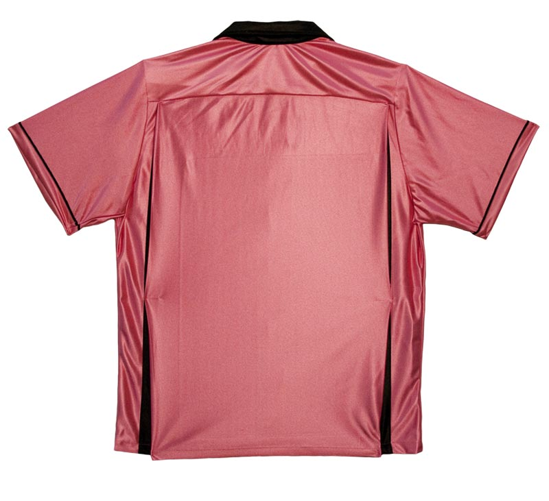 Classic Bowling Shirt: Pink and Black - SM