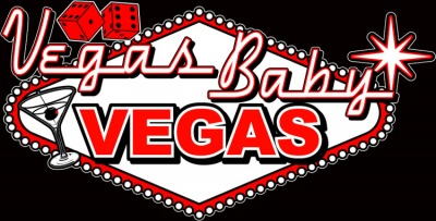 Vegas Baby Vegas Stock Print on Retro Bowler