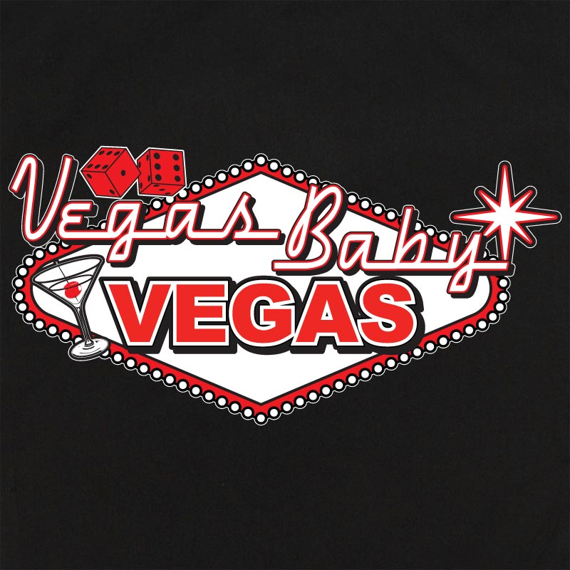 Retro Vegas Shirt: Blue bowling shirt - Black/white