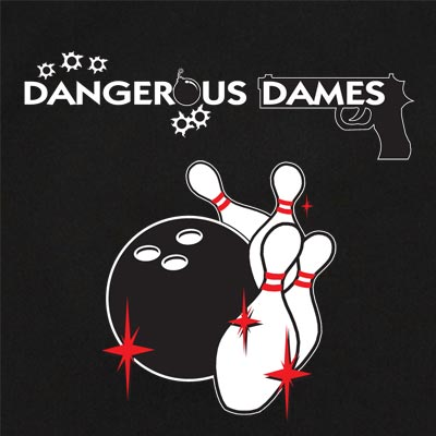 Dangerous Dames Stock Print on Retro Bowler
