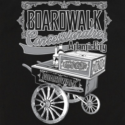 Boardwalk Concessionaire Stock Print on Retro Bowler