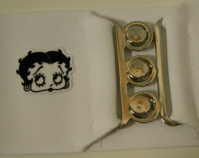 BETTY BOOP CINCH BELT-LARGE White