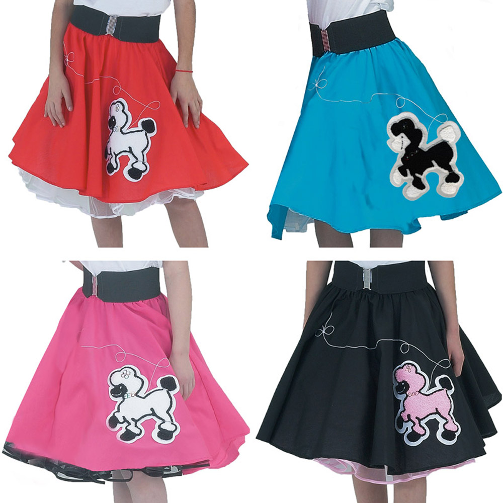 - Black Skirt w/ Pink Poodle
