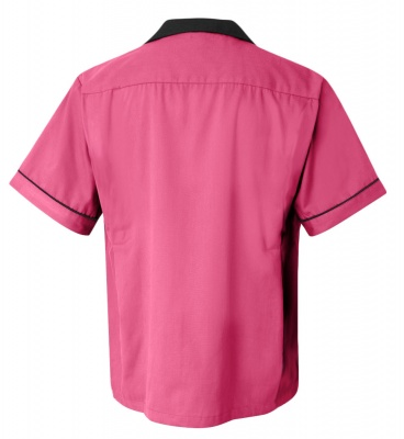 Pink/Black Legend 2244 Button Up Bowling Shirt