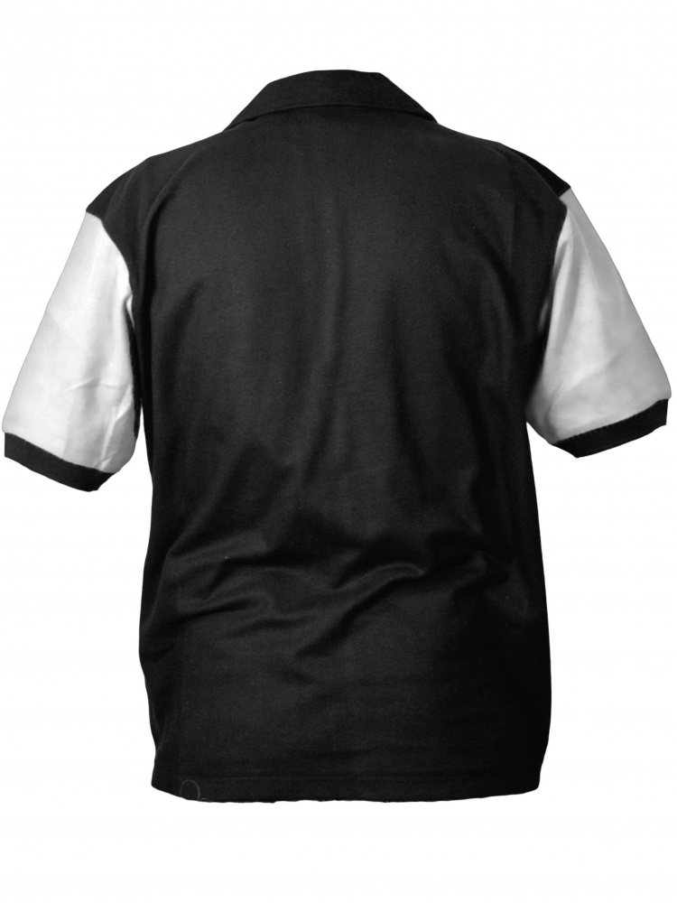 Hilton Deuce Retro Bowling Shirt - White and Black