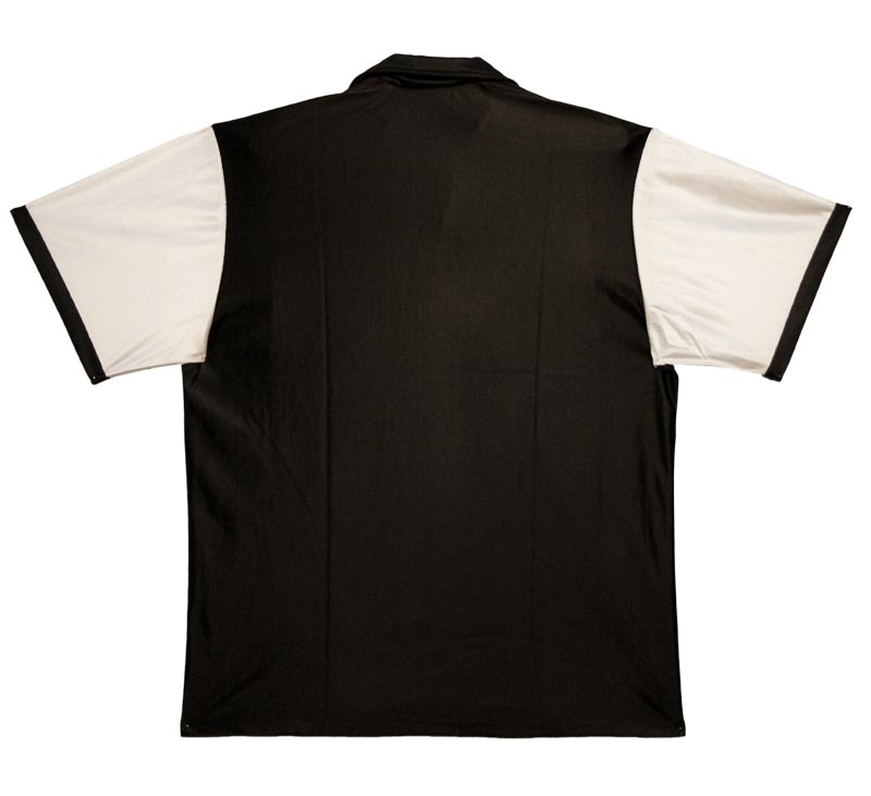 classic bowling shirt: black and white - MD