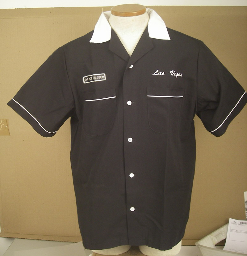 MOB MUSEUM on CLASSIC 2.0 BLACK/WHITE SHIRT-MED